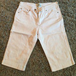 Levi's 515 capri white jeans sz 10